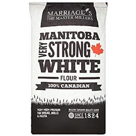 16kg Marriage's Manitoba Very Strong White Flour 100% Canadian Very High Protein